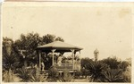 Fort Brown bandstand with soldiers practicing, different angle