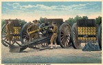 Fort Brown U.S. Cavalry loading a four-point seven siege gun