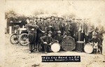 Fort Brown 1st Illinois Cavalry band at Rio Grande Railroad Station