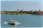Fort Brown Motor Hotel and boat on resaca
