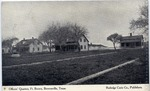 Fort Brown officer's quarters row and parade grounds