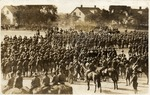 Fort Brown U.S. Cavalry in formation at the parade grounds