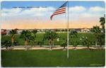 Fort Brown parade grounds and flag by A. Rogers