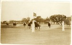 Fort Brown parade grounds, U.S. Army Soldiers playing polo