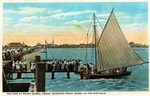 Pier at Point Isabel, Texas, showing Point Isabel in the distance by Robert Runyon and Curt Teich & Co.