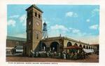 Plaza de mercado, market square, in Matamoros, Mexico. by Robert Runyon and Curt Teich & Co.