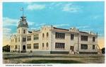 Grammar school building by Robert Runyon and Curt Teich & Co.