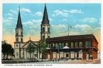 Nuestra Señora del Refugio de los Esteros Catholic Church and U.S. Customs building by Robert Runyon and Curt Teich & Co.