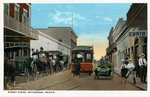 Street scene in Matamoros, Mexico by Robert Runyon and Curt Teich & Co.