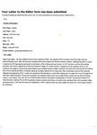 Documents and correspondence pertaining to Dr. Irene Ledesma