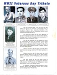 Newspaper clipping and draft of article - WWII Veteran's Day Tribute - Pharr's four Gonzalez brothers by Pat Gonzalez