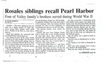 Newspaper clippings - Rosales siblings recall Pearl Harbor by Maro Robbins