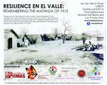 Resilience en en Valle: Remembering the Matanza of 1915 flyer