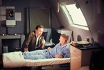 Vic Damone and patient by Cayetano E. Barrera