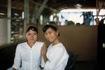 Kim and friend (waitresses) by Cayetano E. Barrera