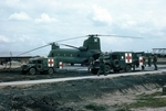 Chinook helicopter at Cu-Chi by Cayetano E. Barrera