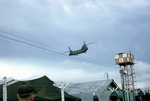 Chinook helicopter at Tan Son Nhut Air Force Base by Cayetano E. Barrera