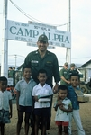 Gum peddlers at Camp Alpha by Cayetano E. Barrera