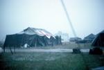 Ward tent during rainstorm Quan-Loi by Cayetano E. Barrera