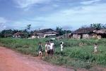 Village huts by Cayetano E. Barrera