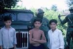 Kids and Sarg. Alexander by Cayetano E. Barrera