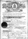 Hidalgo County marriage license no. 705 of Alfredo Rodriguez and Maria Petra Bazan