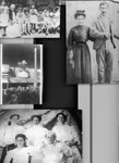 Four b&w photographs of the Bazan family