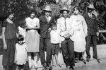 B&w photograph of the Bazan family
