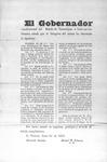Declaration of El Gobernador del Estado de Tamaulipas no. 59 by Servando Canales and Manuel M. Canseco