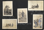 Page 07, Soldiers showing height of prickly pear plant, Soldiers enjoying the beach, Soldier with a cat, Soldiers posing with rifles