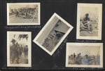 Page 15, Inspection of quarters, Soldiers in pup tents, Soldier with a cat, Soldiers on march, Soldiers in action