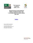 01 Indice - Archivo Digital De Documentos Sobre La Guerra De Texas, 1835, Y La Guerra México-Estados Unidos, 1846-1848