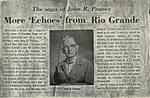 Page 26, The saga of John R. Peavey and more echoes from the Rio Grande newspaper clipping by John R. Peavey