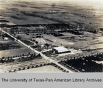 Photograph of Sharyland School and packing plant, aerial view