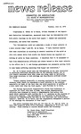 Agriculture News Release - 1974-07-16