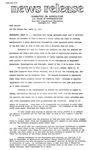 Agriculture News Release - 1975-03-11