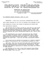 Agriculture News Release - 1979-04-18