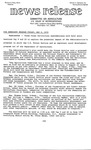 Agriculture News Release - 1979-05-04