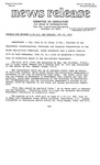 Agriculture News Release - 1979-05-29