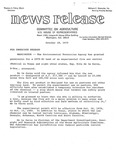 Agriculture News Release - 1979-10-18