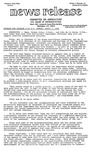 Agriculture News Release - 1980-04-07