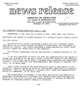 Agriculture News Release - 1980-05-07