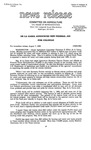 Agriculture News Release - 1989-08-07