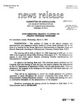 Agriculture News Release - 1993-03-03
