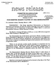 Agriculture News Release - 1993-03-04