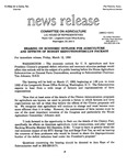 Agriculture News Release - 1993-03-12