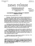 Agriculture News Release - 1993-03-17a
