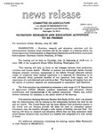 Agriculture News Release - 1993-06-28