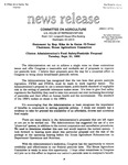 Agriculture News Release - 1993-09-21b