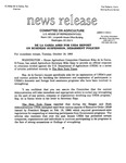 Agriculture News Release - 1993-10-19